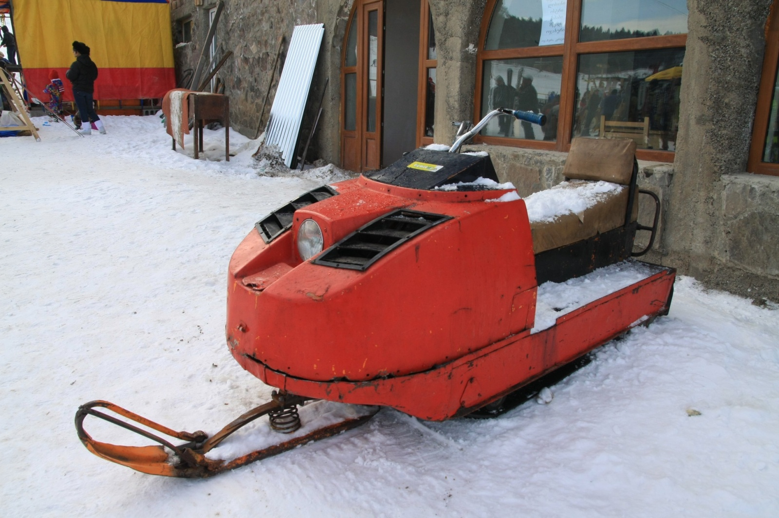 Retro snowmobile