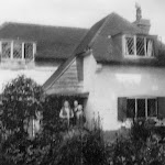 Windyridge (now Orchard Lodge) Mr & Mrs Philips and Miss Wheatley in doorway circa 1933