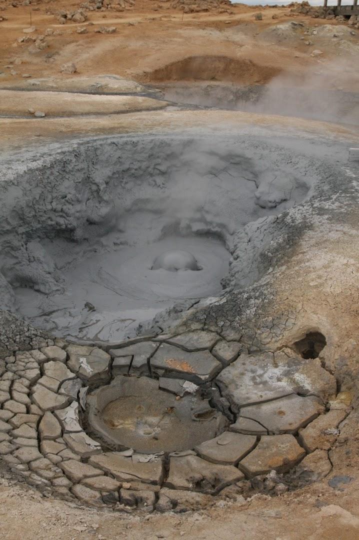 Boiling mudpot