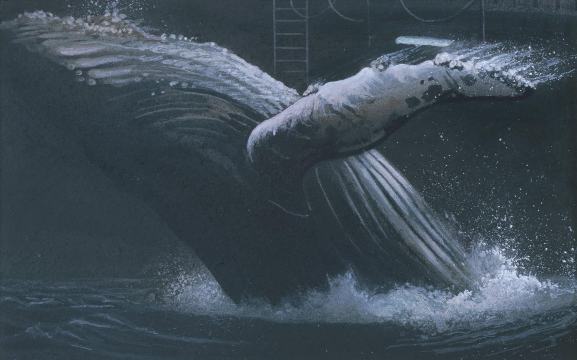 Arche (Noah) / Entwurf   1987   Aquarell   3-teilig