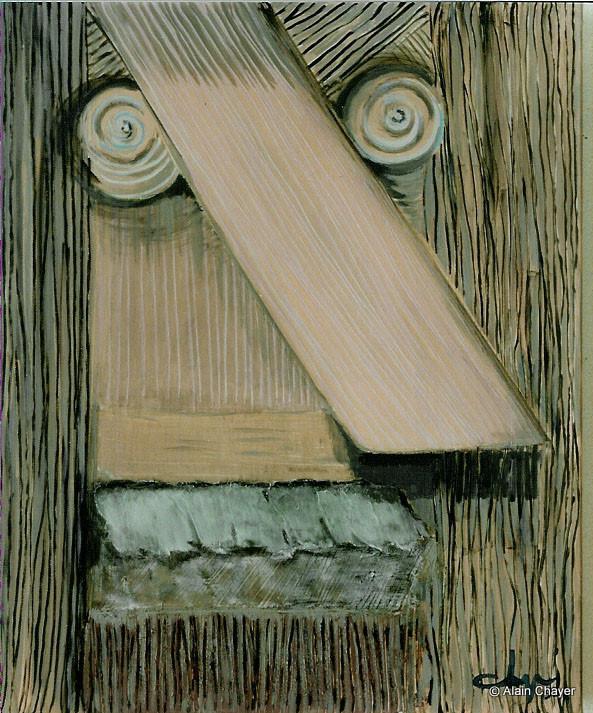 025 - Portrait de Jacques - 1993 73 x 60 - Acrylique sur toile