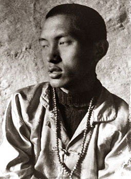 Rinpoche at Lawudo, circa 1970  Photo by Clive Arrowsmith