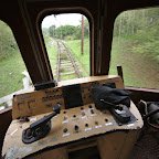 Cockpit of Hershey's train is full of 1920's tech