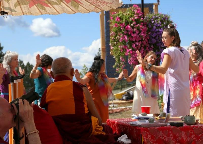 Tara dancers, Amitabha celebration day, Buddha Amitabha Pure Land, Washington, US, August 2014. Photo by Ven. Thubten Kunsang.