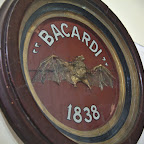 The original Bacardi logo - the dead bat was found in the rum factory in 1838