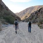 Hiking back down Rockhouse Canyon
