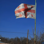 National flag is proudly waving in the sky