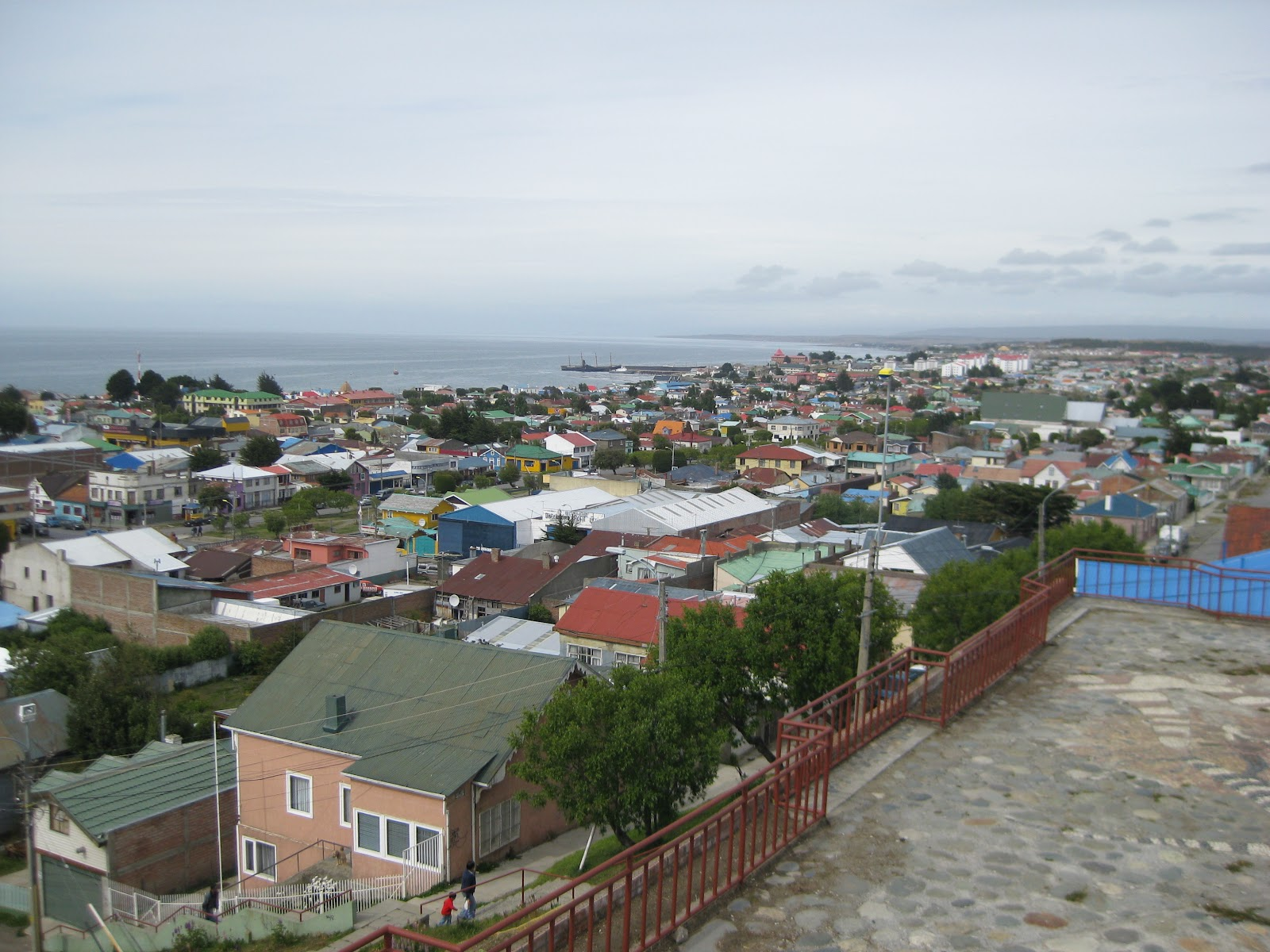 View over the Straits of Magellan