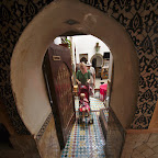 Exit from the riad to the bazaar