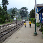 Children playing at Shoghi railway station