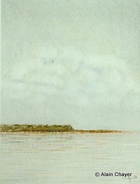 072 - La Pointe Denis - 1996 24 x 30 - Craie sur carton