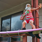 Santa is also a surfer in Australia