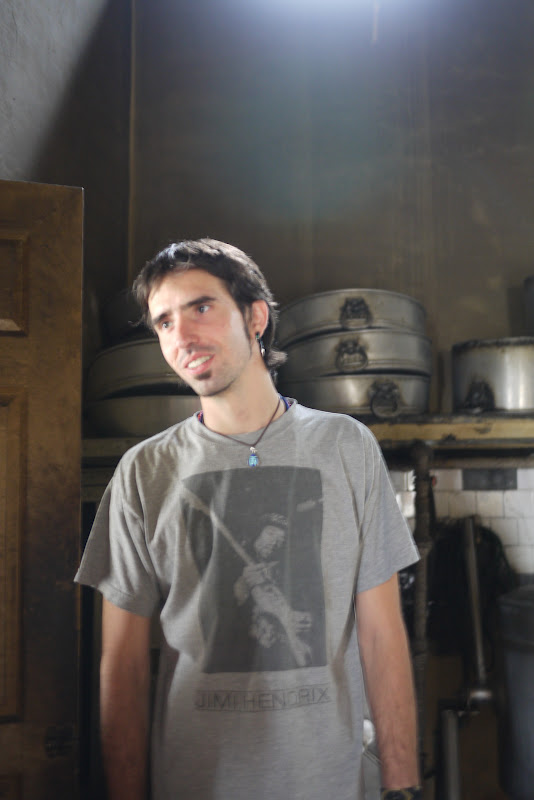 Osel in the kitchen, Kopan Monastery, July 2011