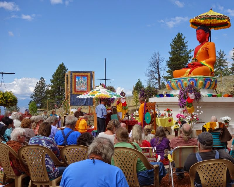 Amitabha celebration day, Buddha Amitabha Pure Land, Washington, US, August 2014. Photo by Ven. Roger Kunsang.