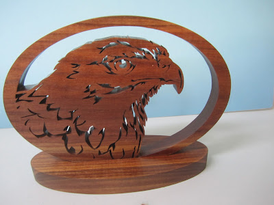 Harris Hawk jacob Fowler Scrollsaw woodworking and Crafts Issue 68