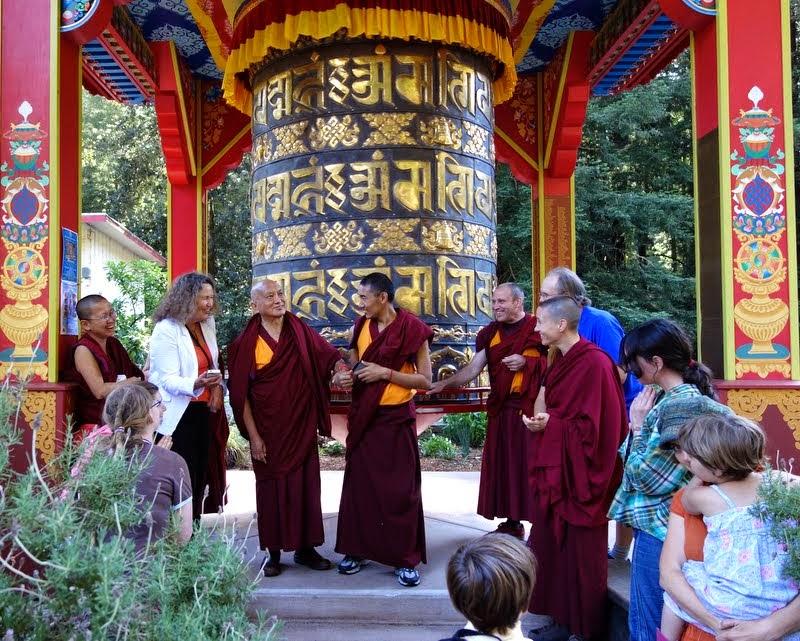 Prayer wheel at Land of Medicine Buddha, Soquel, California, June 2014. Photo by Ven. Roger Kunsang.