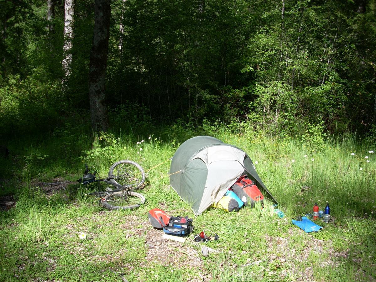 Wild camp site