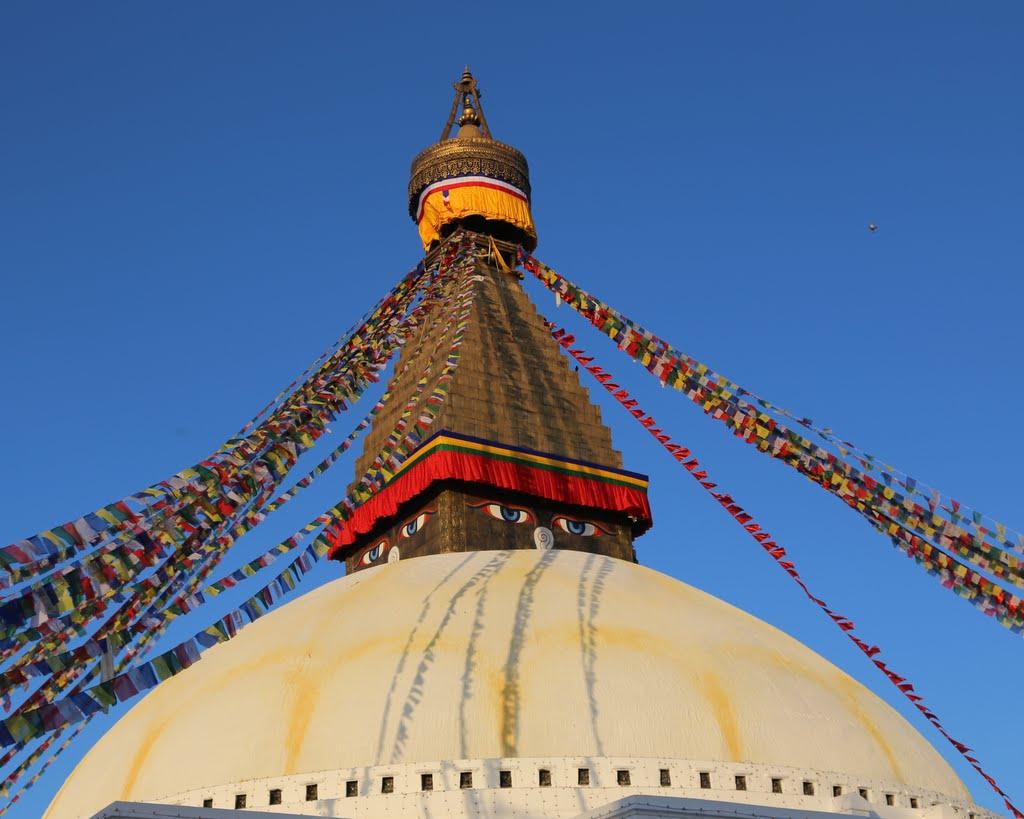 Boudhanath, Nepal, December 2014. Photo by Ven. Thubten Kunsang.