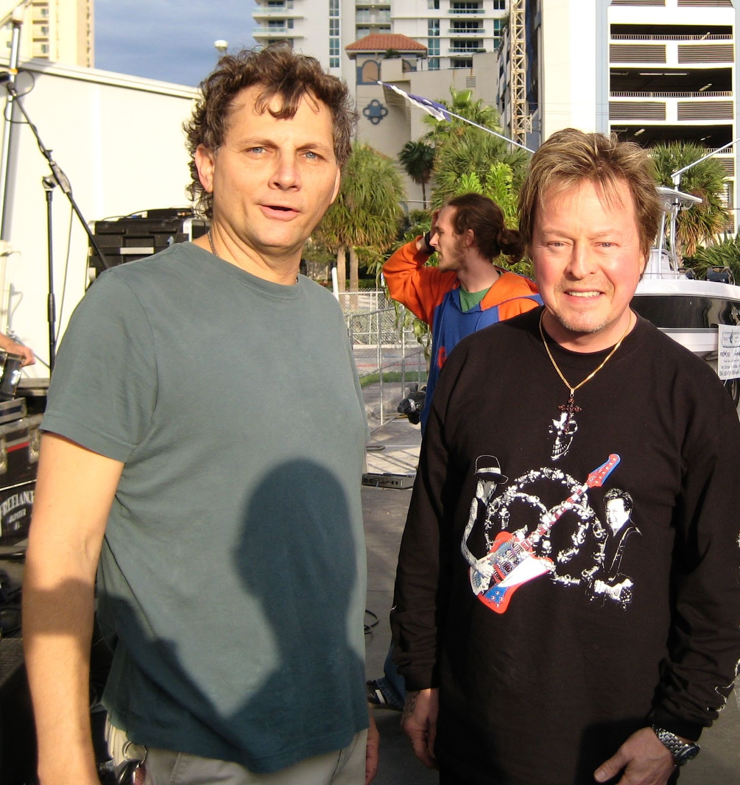 Jimmy with Rick Derringer. Hang on Sloopy!