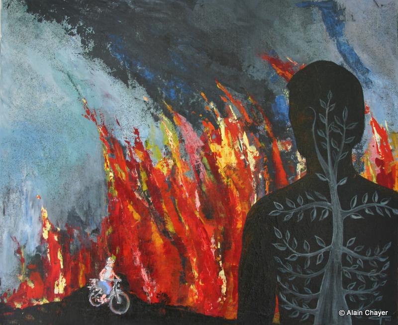 101 - Côte d'Azur - 2003 60 x 73 - Acrylique sur toile