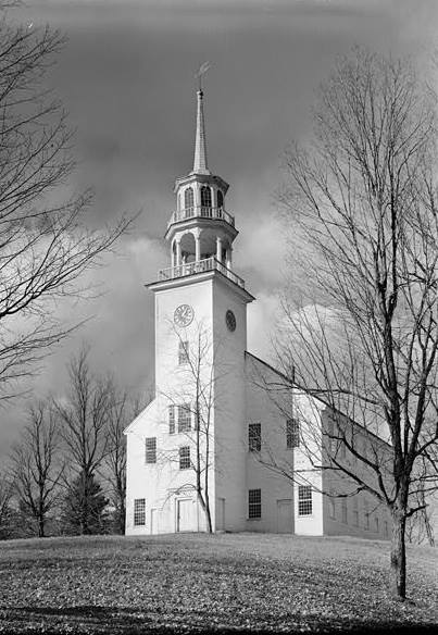 The Strafford Meetinhouse was completed in 1799.