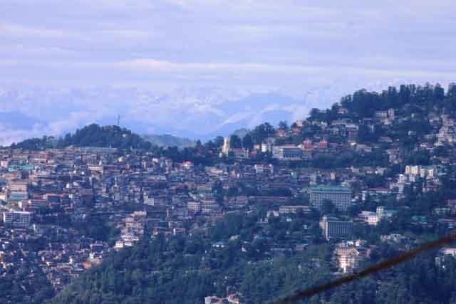Shimla as viewed from Tara Devi Temple