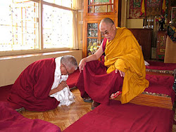 While in Dharamsala, Rinpoche met with His Holiness the Dalai Lama March 2005.