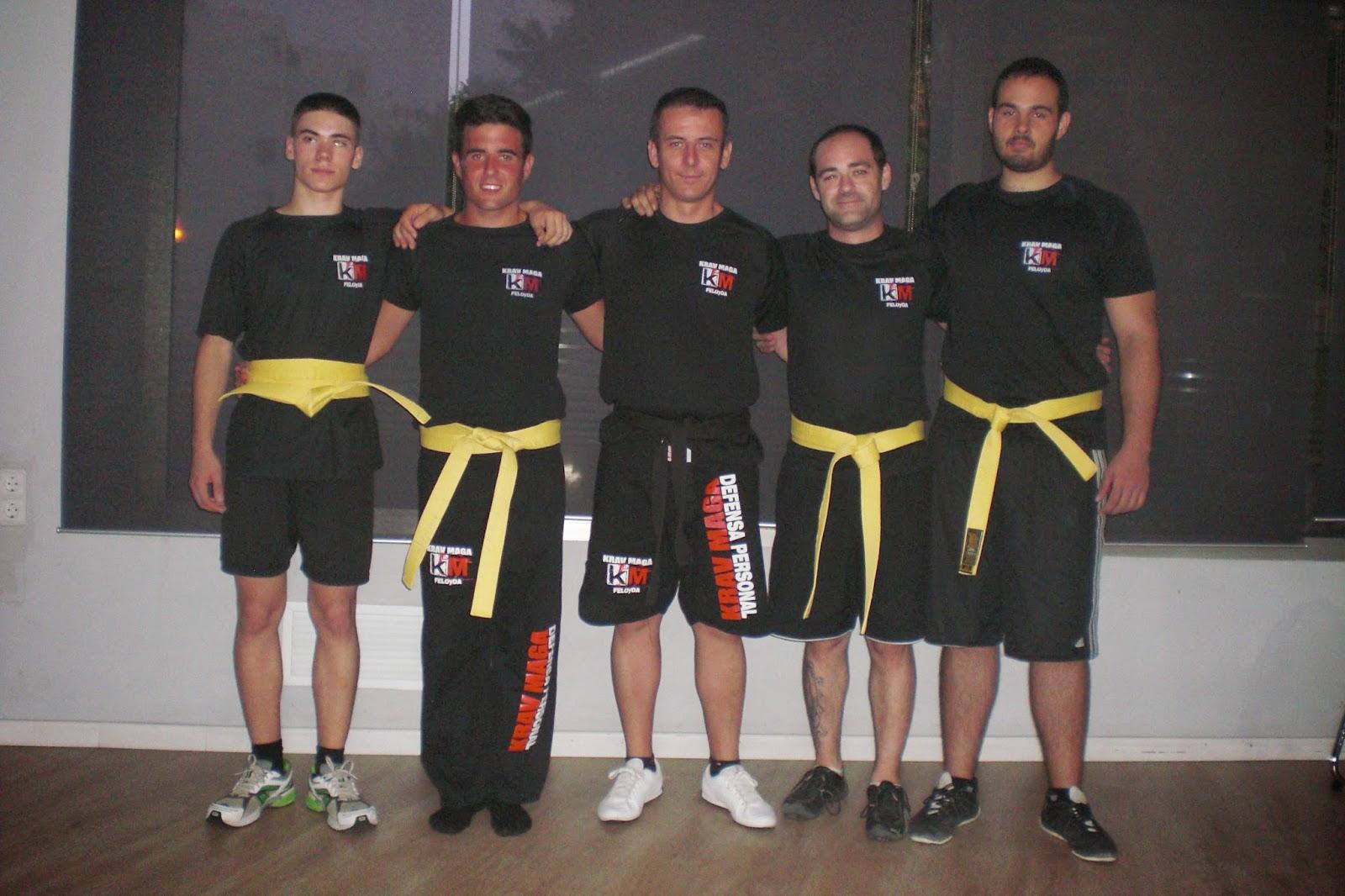 Primeros amarillo de Krav Maga Alicante!!!