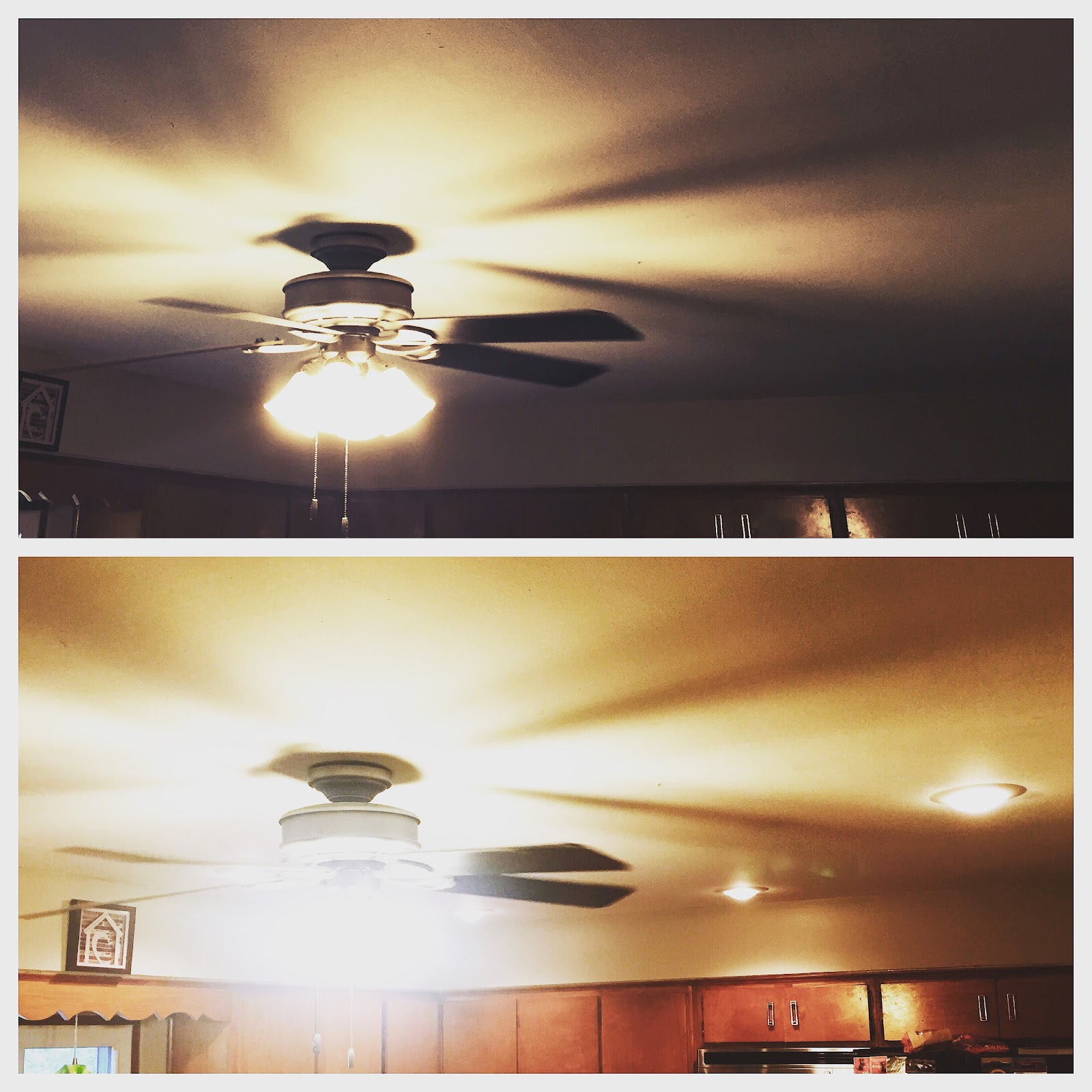May 2017 - new recessed lighting in the kitchen. So much brighter!!