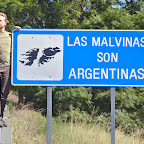 Argentina still claims Falkland Islands, there are hundreds of these signs all around the country