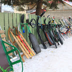 Ski and sledge rental - people come here for all kinds of winter sports