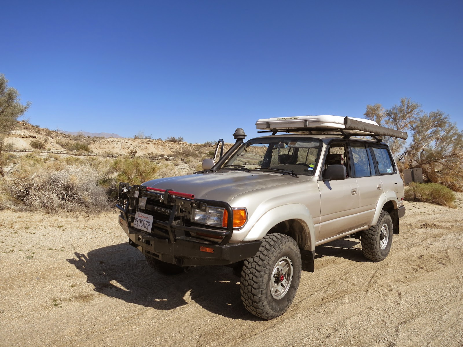 Our desert wildflower hunting vehicle