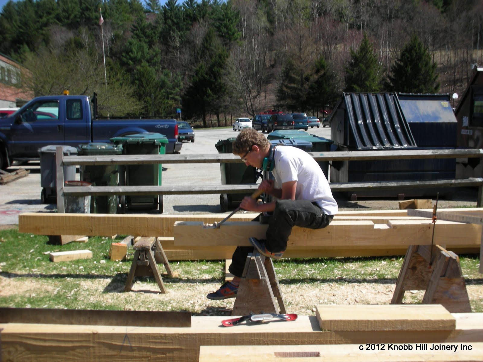 High school students in Montpelier cut and assembled a small frame in one week.