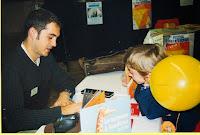 Fête du Livre 20 Hervé Le Goff Animation avec La Poste 1999 Cossé