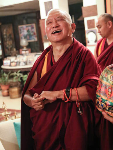 Lama Zopa Rinpoche, Delhi, January 2015. Photo by Ven. Thubten Kunsang.