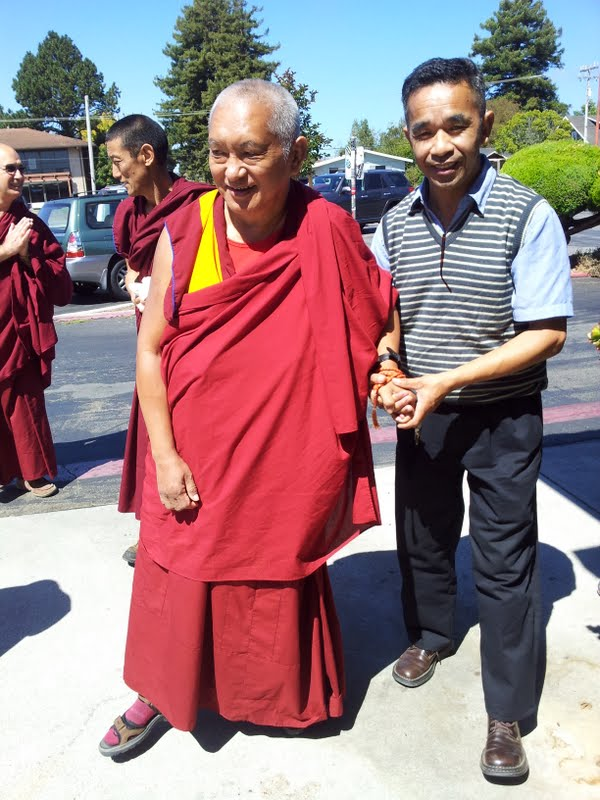 Rinpoche and master painter Gelek