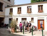 Outside Selwyn's Paris flat  (by Richard)