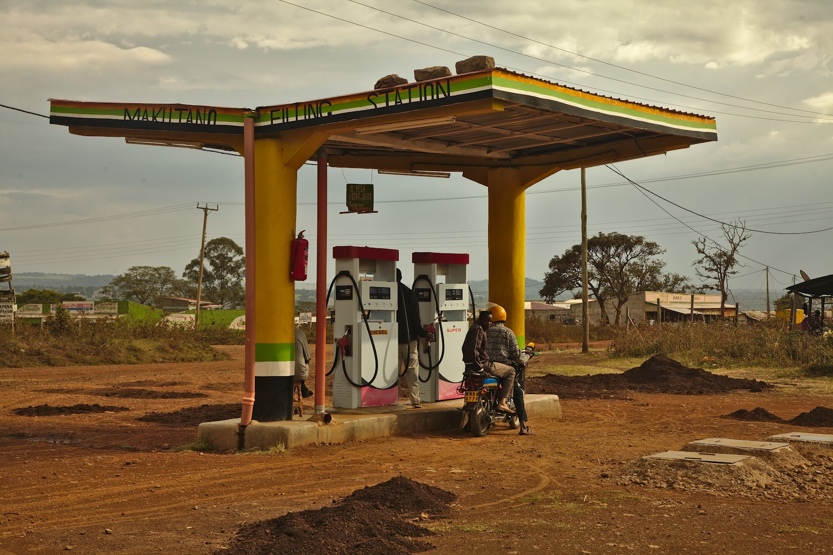 A civilized petrol station