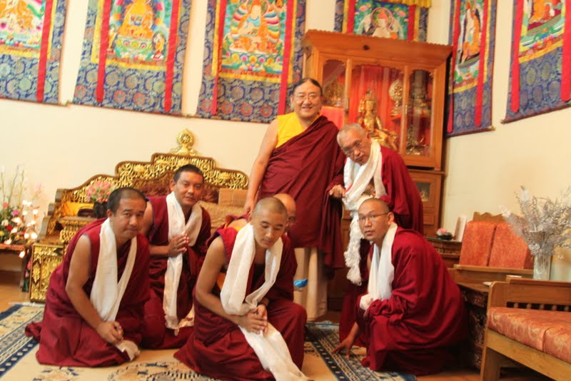 His Holiness the Sakya Trizin with Lama Zopa Rinpoche