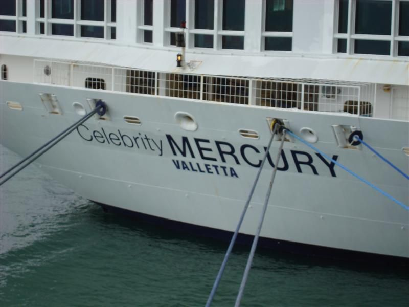 """The new paint work after the recent """"renaming"""" and change in port of registration"""