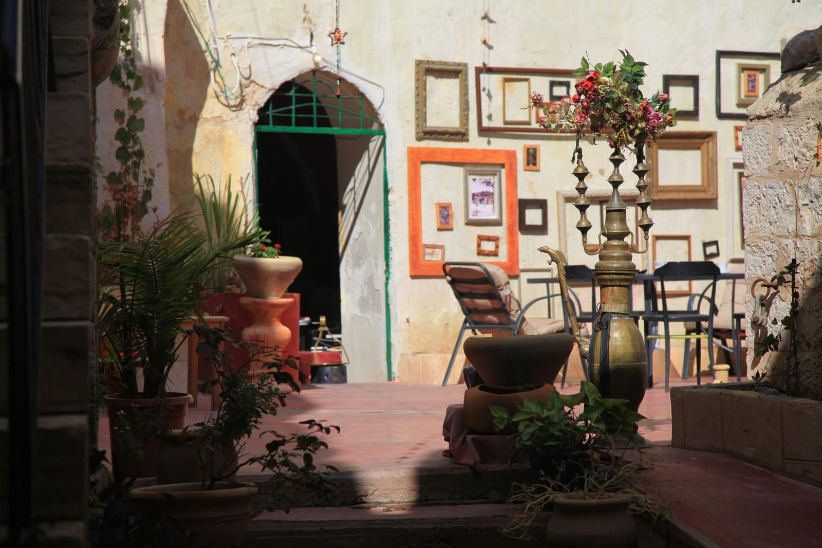 Hostel's courtyard