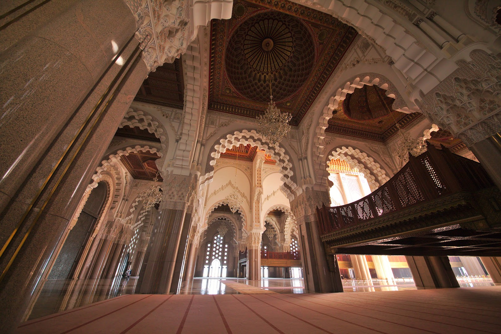 You can get the tour of the mosque when it's not the prayer time