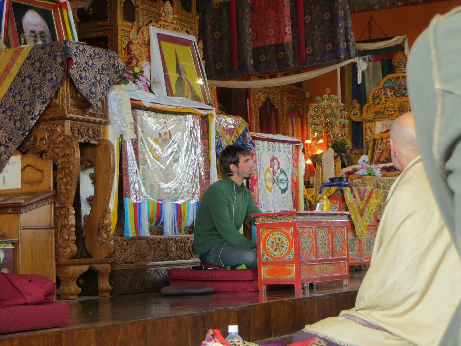 Giving a talk at Kopan Monastery November 2012