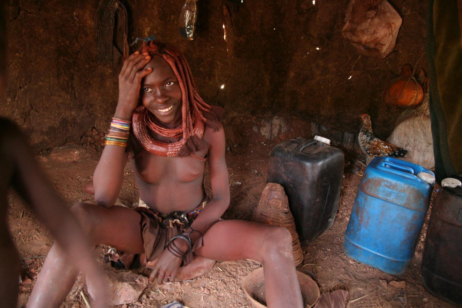 Inside of a Himba hut