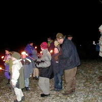 2002 12 12 Weihnachtsfeier Fackelzug