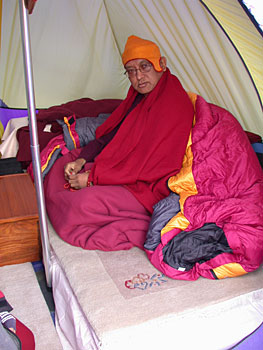 Lama Zopa in his Tent