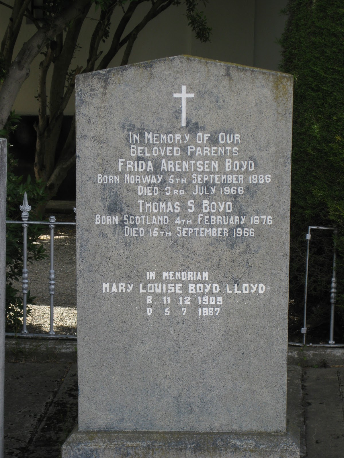 Punta Arenas Cemetery - notice the origins of the couple, and the use of English
