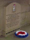 Memorial to 617 Dambuster Squadron in one of the towers on the Derwent Reservoir Dam