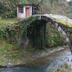 Ancient stone bridge somewhere in a mountain village