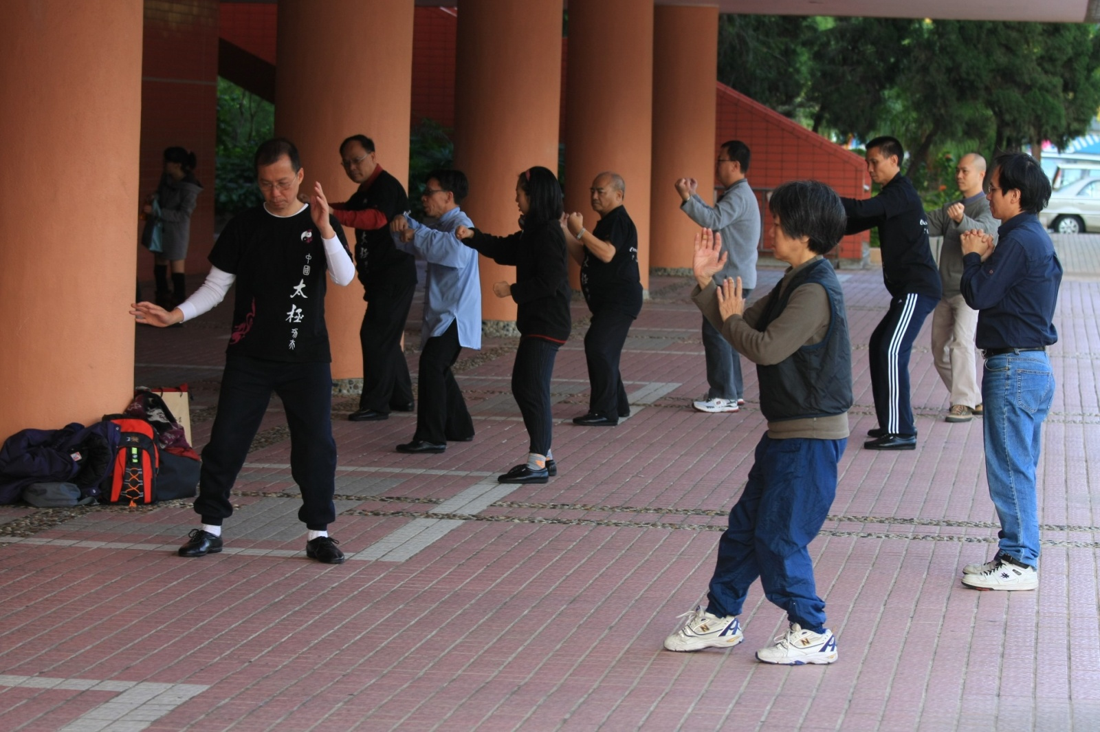 Tai Chi gathering on the street